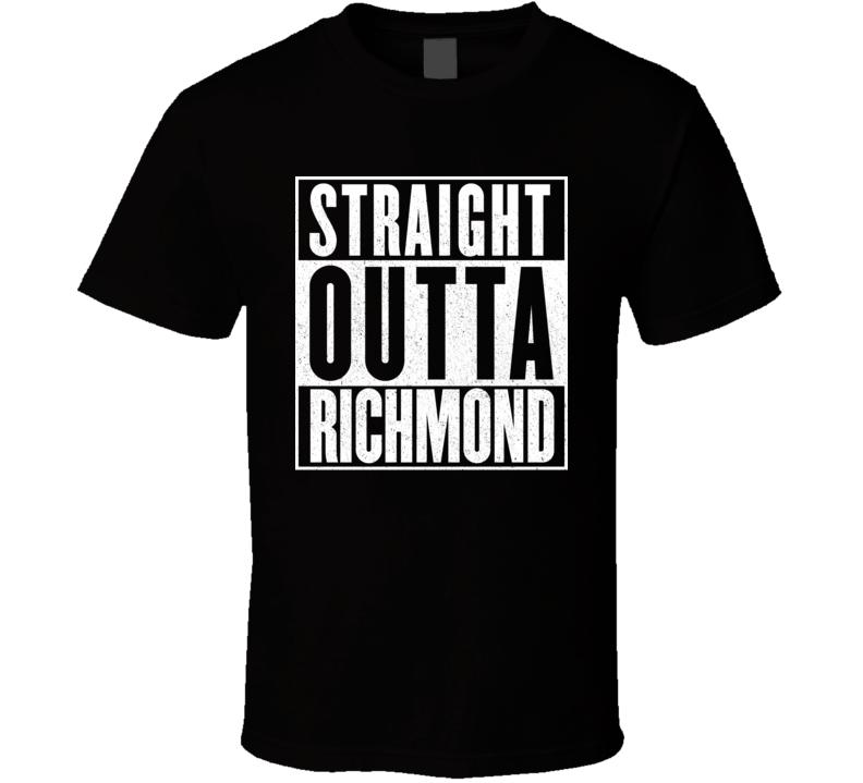 Straight Outta Richmond Hip Hop Rap Movie T Shirt