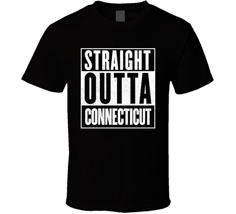 Straight Outta Connecticut Hip Hop Parody T Shirt