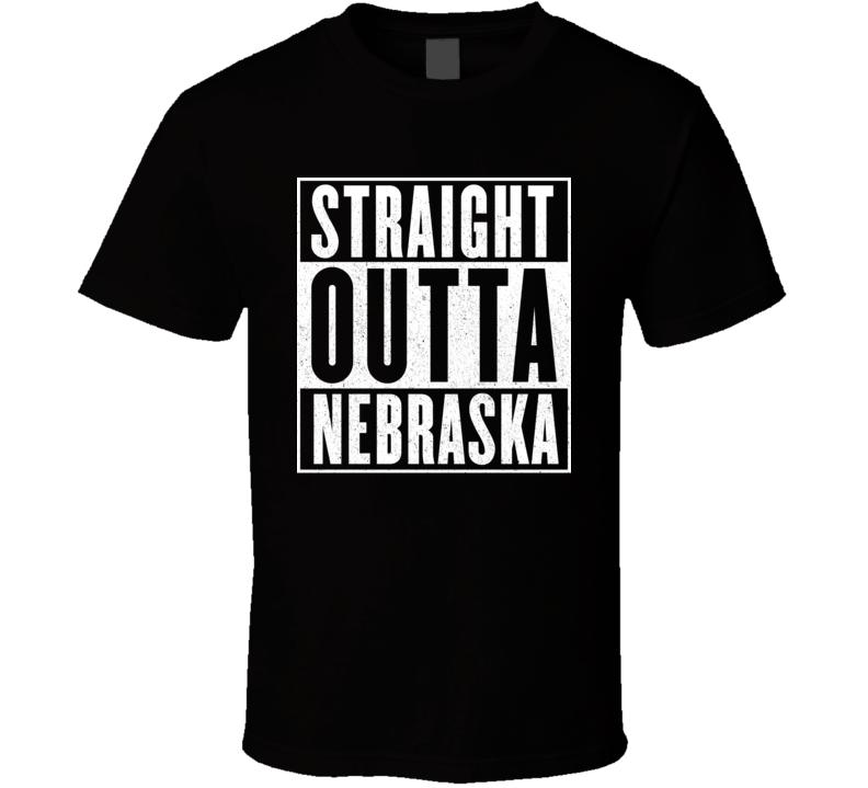 Straight Outta Nebraska Hip Hop Parody T Shirt
