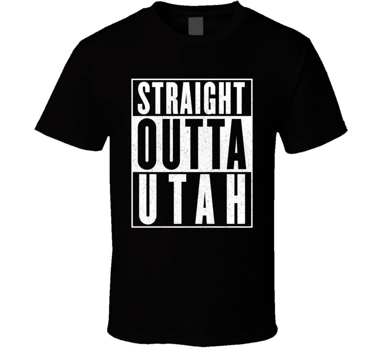 Straight Outta Utah Hip Hop Parody T Shirt