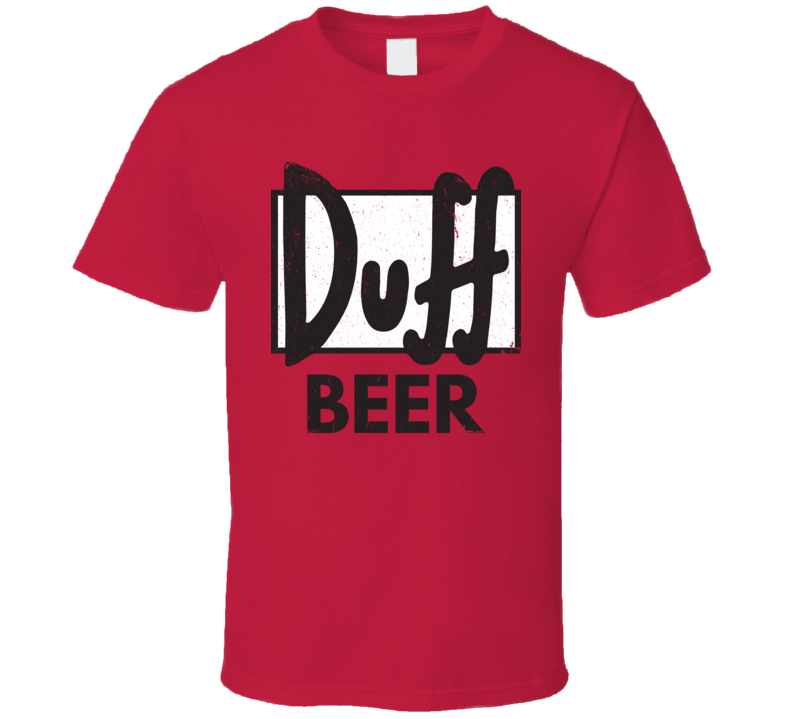 Simpsons Duff Beer Logo Worn Look T Shirt