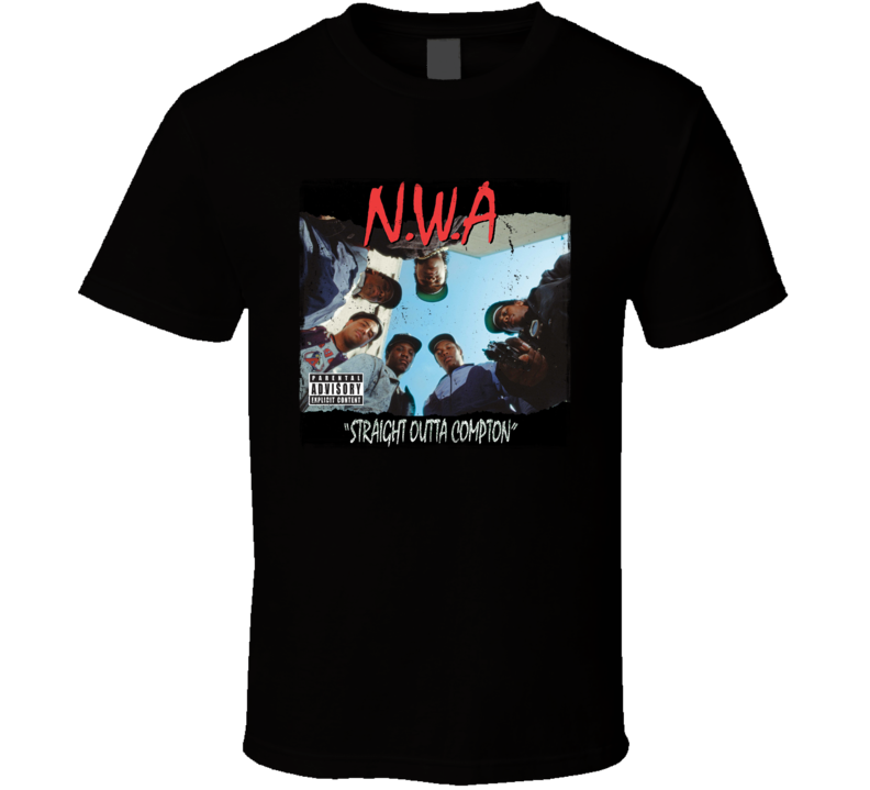 NWA Straight Outta Compton Album Cover Worn Look T Shirt