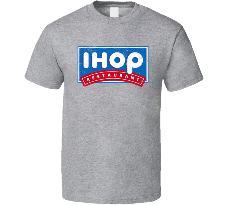 IHOP Love Breakfast Pancakes Worn Look Logo T Shirt