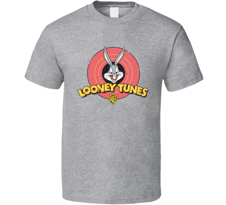 Bugs Bunny Looney Toons Faded Worn Look Logo T Shirt