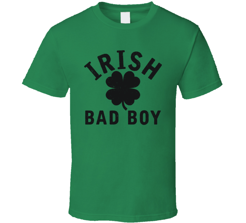 Irish Bad Boy MMA Guy Fighting Distressed T Shirt