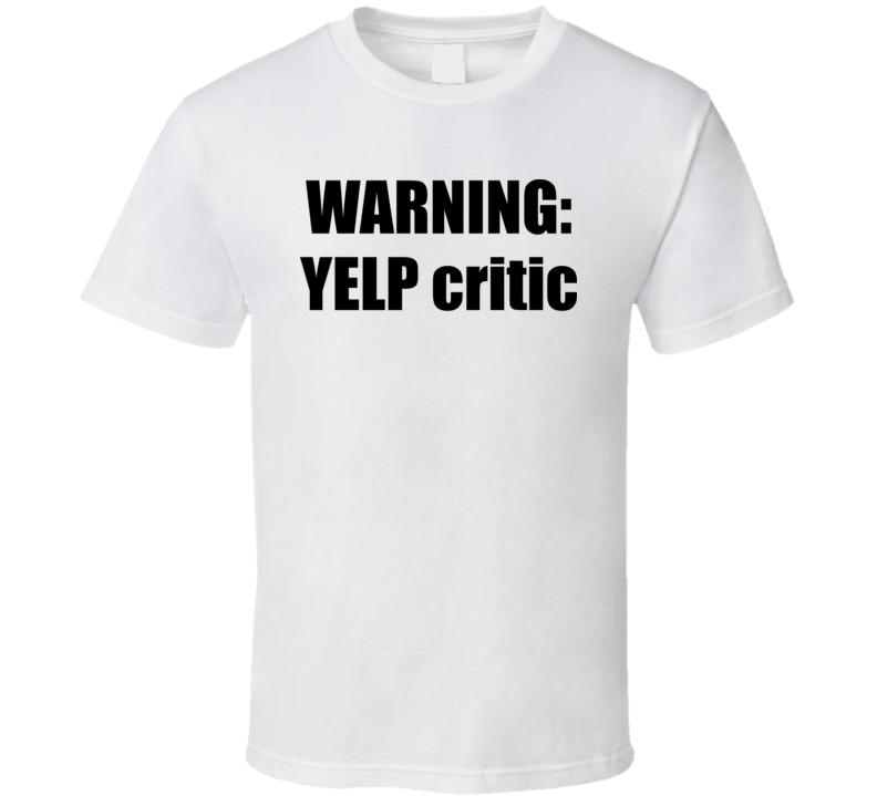 Warning Yelp Critic South Park White T Shirt