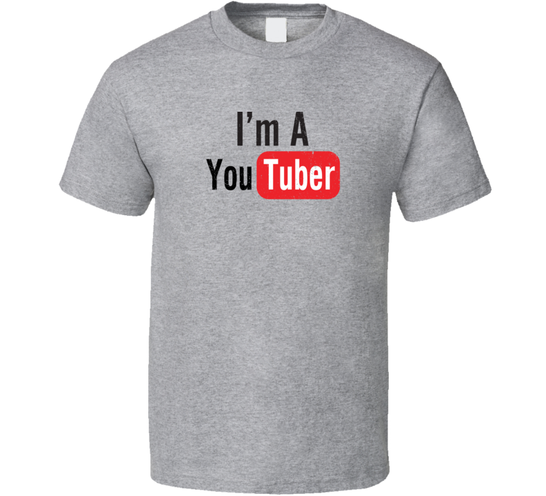 I'm A Youtuber Youtube Distressed T Shirt
