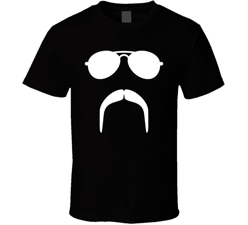 Invisible Fu Manchu Mustache Movember T Shirt
