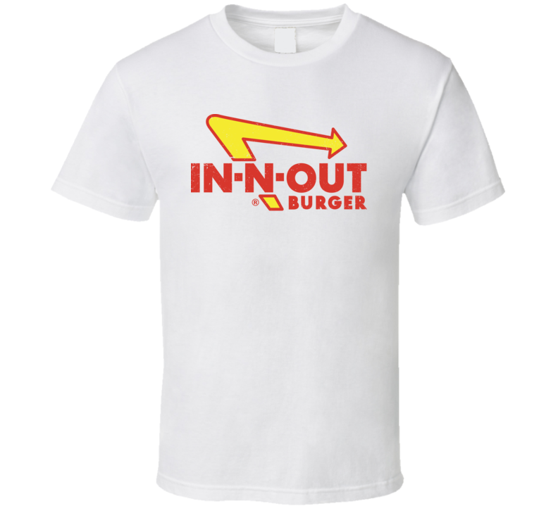 In N Out Burger Worn Look Logo T Shirt