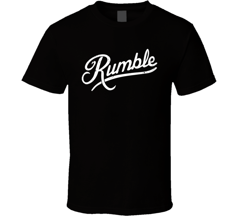 Anthony Rumble Johnson MMA Fighting Distressed Script T Shirt
