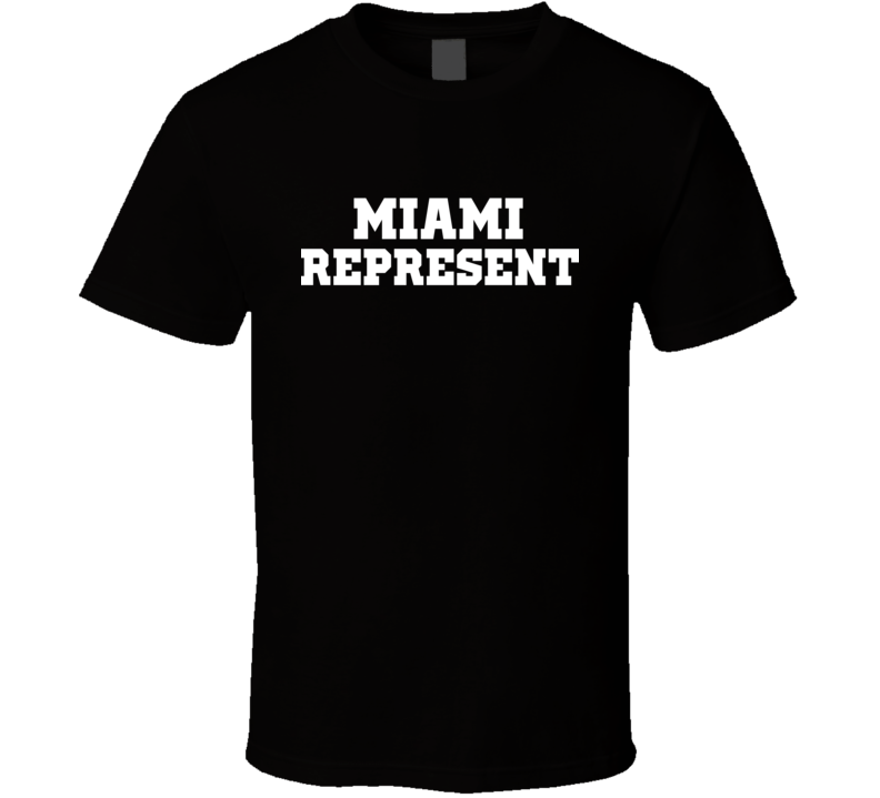 Miami Represent Nike Nate Diaz MMA Fighters Fighting T Shirt