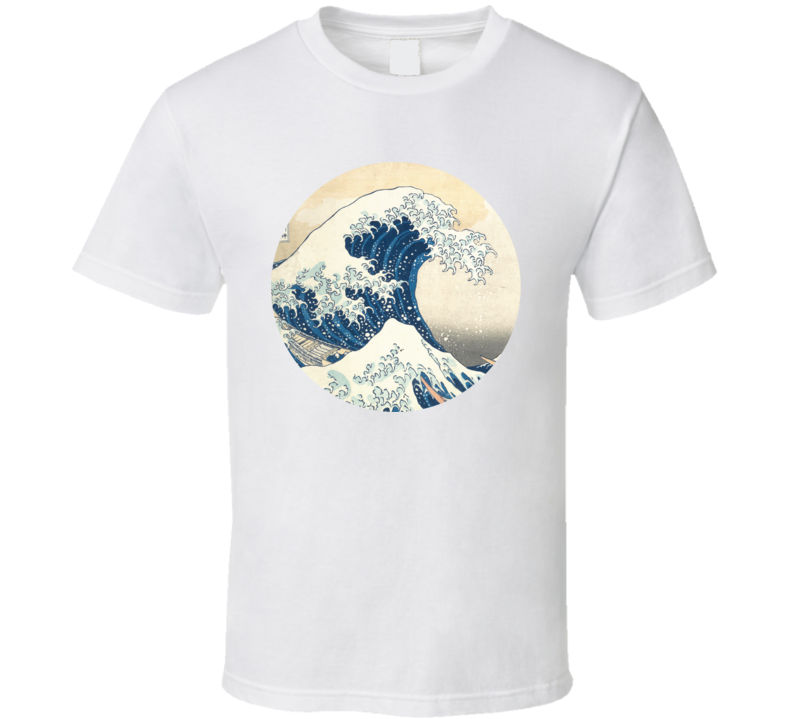 The Great Wave Off Kanagawa Japanese Tsunami Classic Art T Shirt