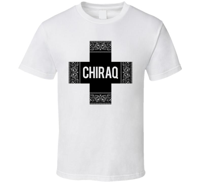 Chiraq Bandana Cross Chi Raq Chicago White T Shirt