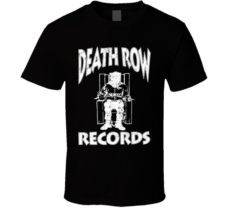 Deathrow Records Logo Worn Look T Shirt