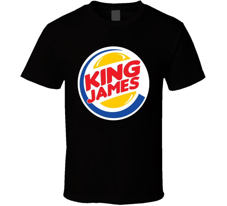 King Lebron James Burger King Parody T Shirt