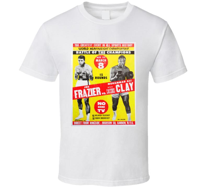 Muhammad Ali Joe Frazier Boxing Poster Worn Look T Shirt