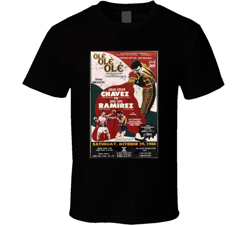 Julio Cesar Chavez Vintage Boxing Poster Worn Look T Shirt