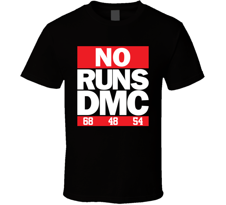 No Runs DMC Baseball T Shirt
