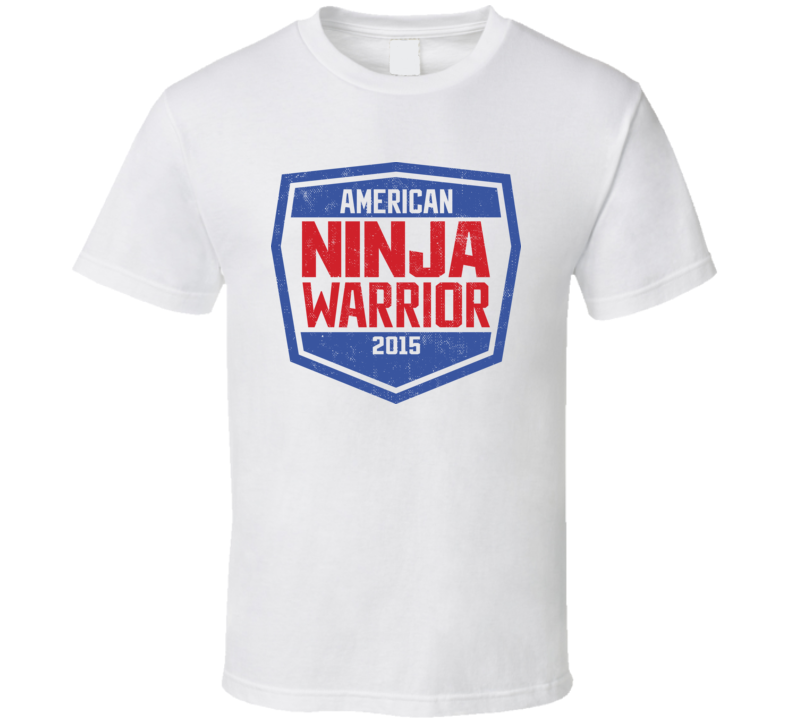 American Ninja Warrior Shield Worn Look T Shirt