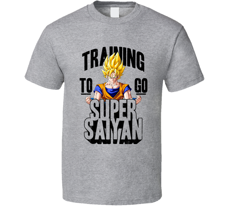 Training To Go Super Saiyan Worn Look T Shirt