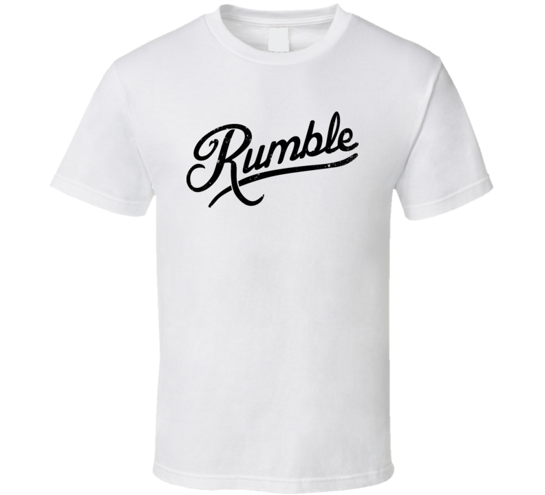Anthony Rumble Johnson Distressed White T Shirt
