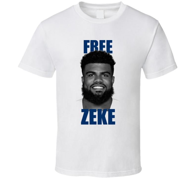 Free Zeke Ezekiel Elliott Dallas Cowboys T Shirt