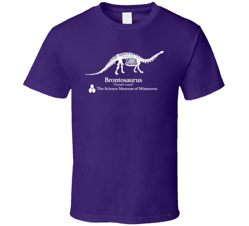 Stranger Things Science Museum Brontosaurus T Shirt