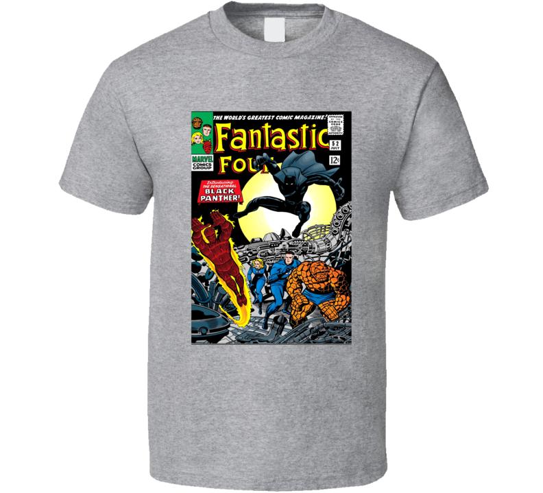 Fantastic Four Black Panther Comic 52 T Shirt
