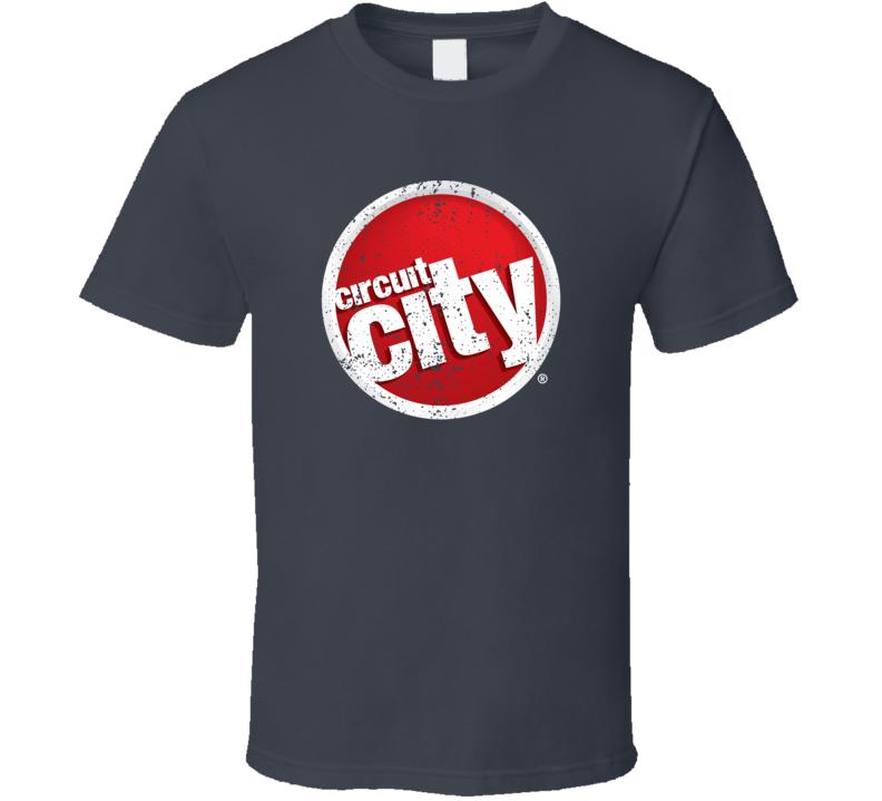 Circuit City Retro Logo Brand Worn Look T Shirt