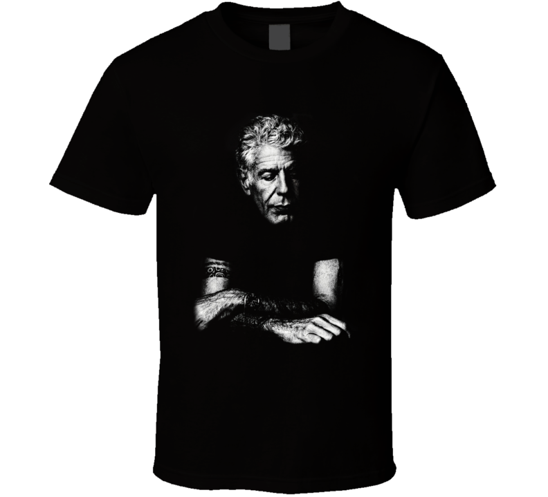 Anthony Bourdain Celebrity TV Chef Cook T Shirt