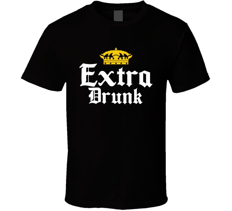 Extra Drunk Corona Beer Parody Drinking Bar Crawl Tank Top