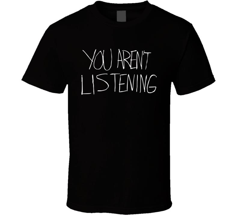 You Aren't Listening Malcolm Jenkins Philadelphia Football Black T Shirt
