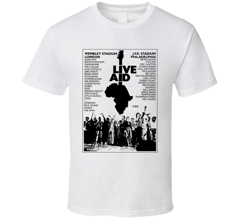 Live Aid Music Concert Poster T Shirt