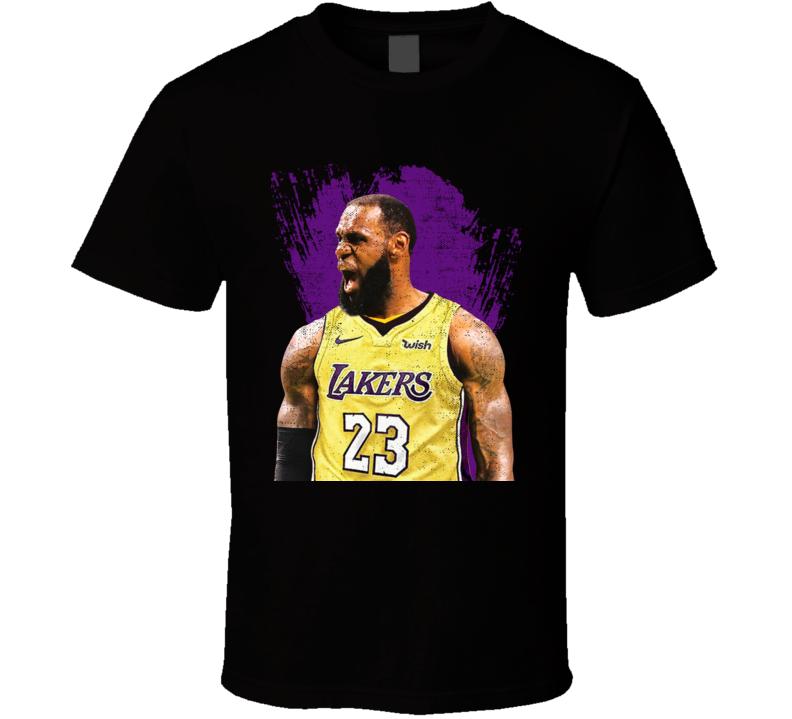 Lebron James Scream Los Angeles Lakers Basketball Fan T Shirt