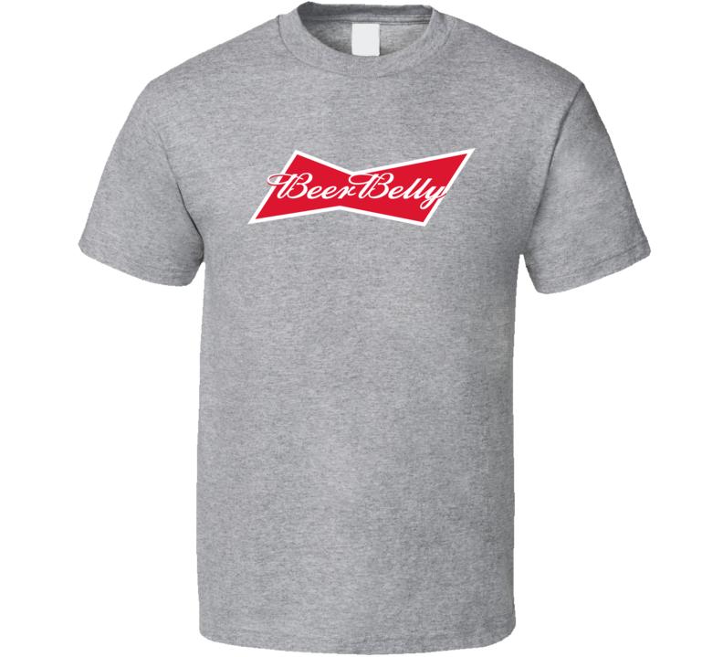 Beer Belly Budweiser Parody Logo T Shirt