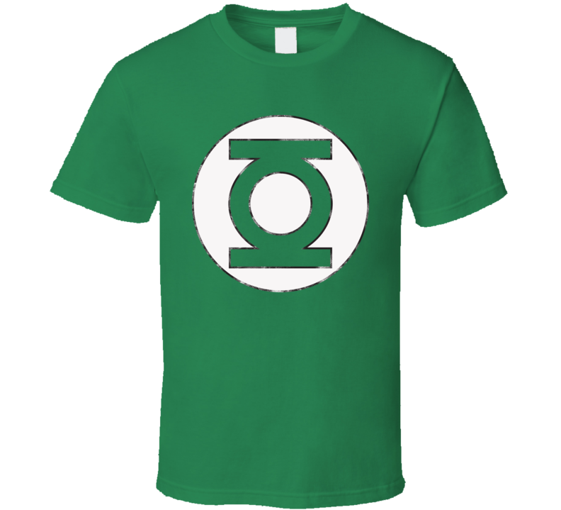 Green Lantern Big Bang Theory Distressed T Shirt