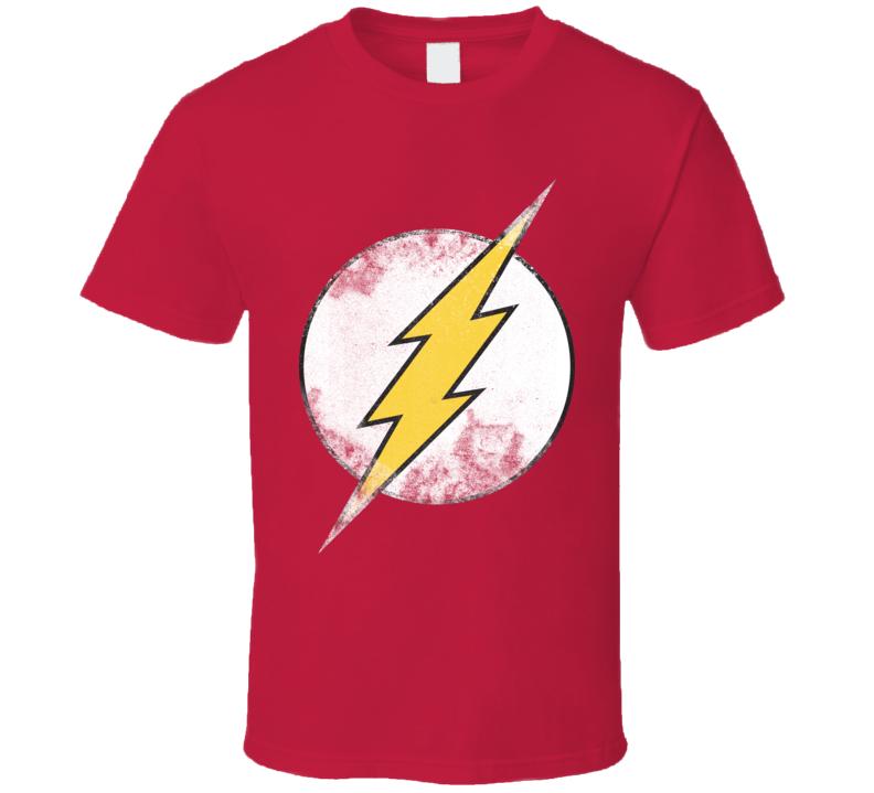 Flash Big Bang Theory Distressed T Shirt