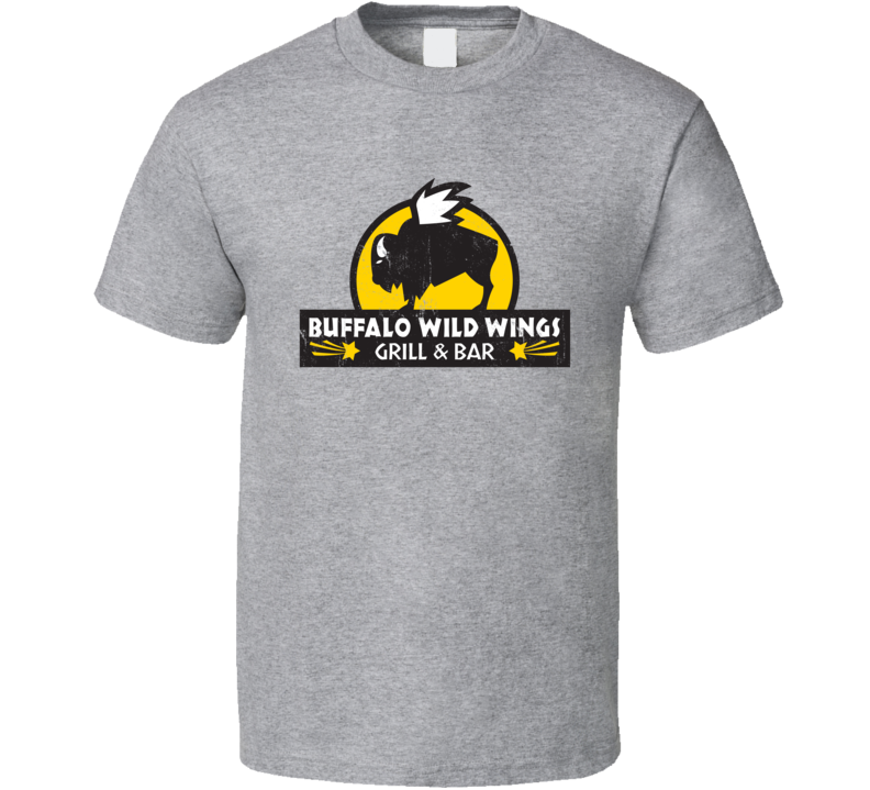 Buffalo Wild Wings Grill And Bar Logo Distressed T Shirt