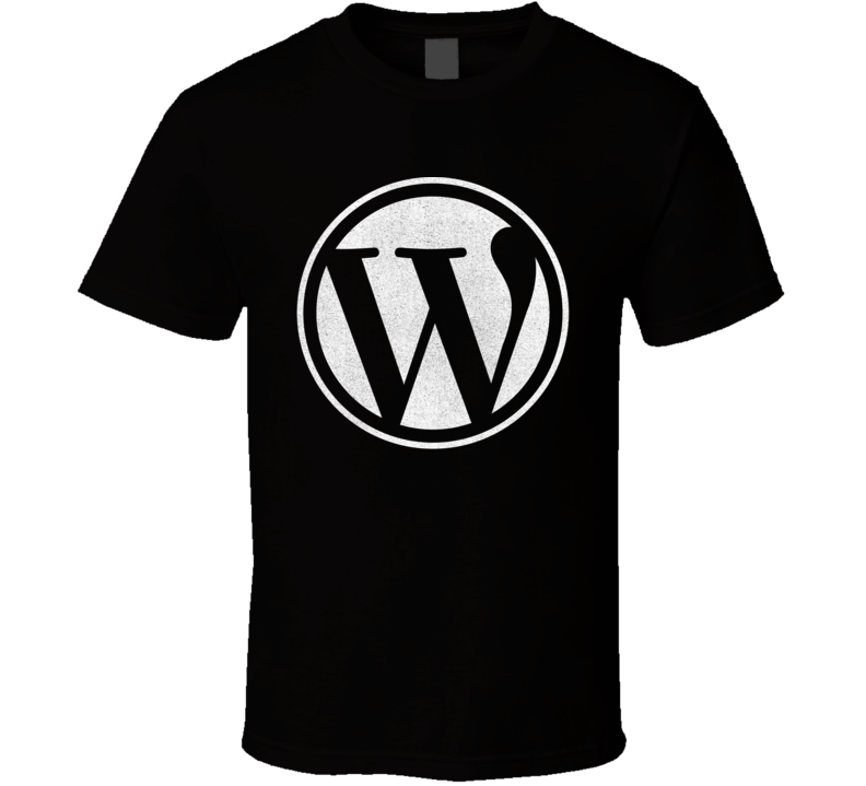 WordPress Logo Distressed T Shirt