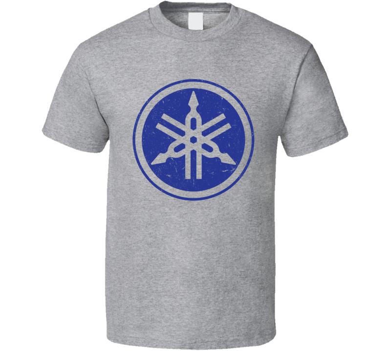 Yamaha Logo Distressed T Shirt