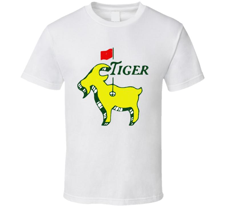Tiger Woods Masters Tournament Logo Mashup Parody Golf Fan T Shirt
