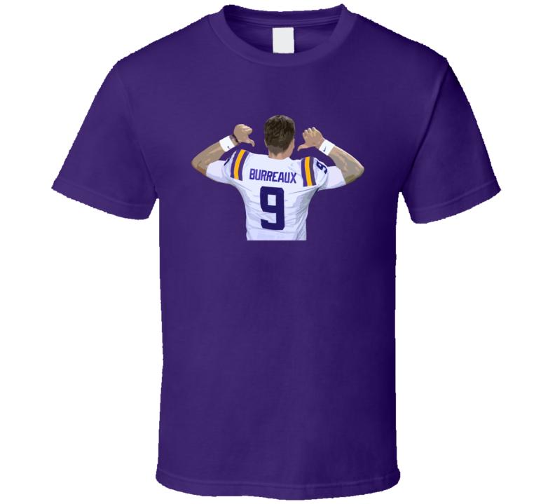 Joe Burrow Geaux Burreaux Football Sports Fan T Shirt