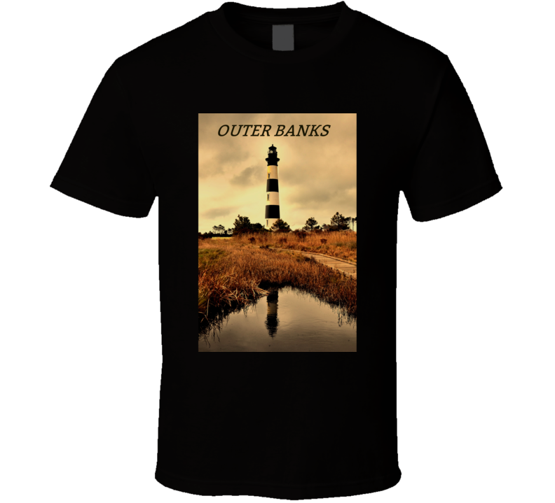 OBX T Shirt Outer Banks Bodie Lighthouse NC North Carolina