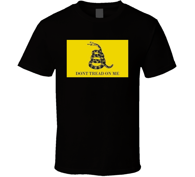 Don't Tread On Me T Shirt Political Patriotic Snake Gun Rights 2nd Amendment