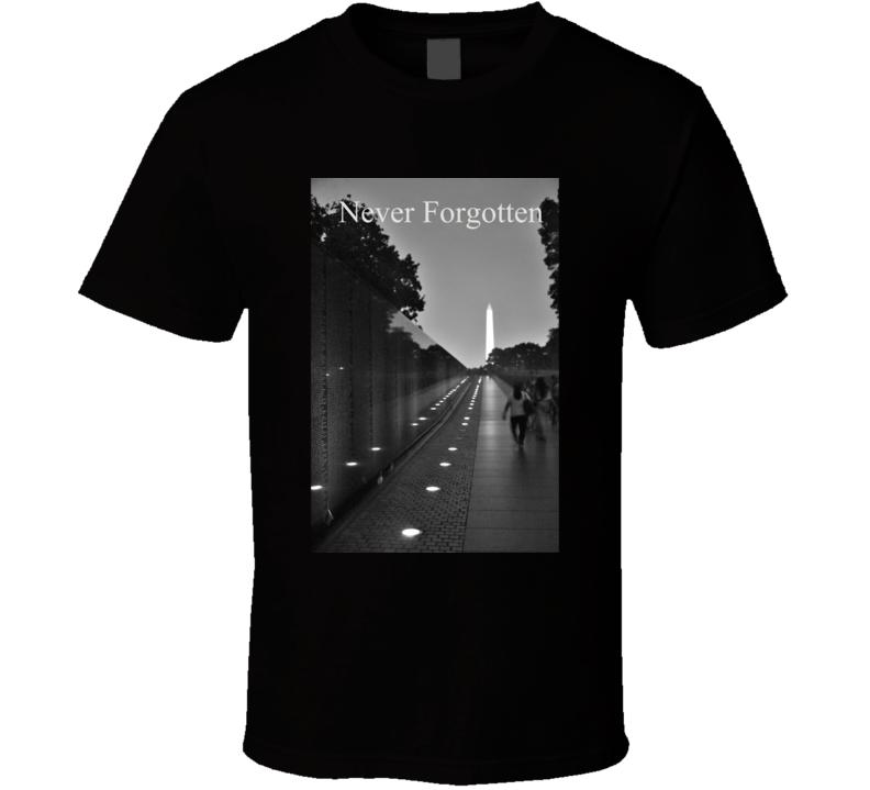 Never Fogotten T Shirt Vietnam Veterans Memorial  Patriotic Military Gift Photo Photography
