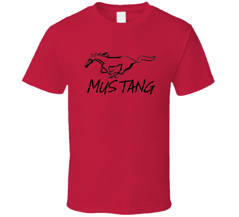 Red Mustang Running Horse Pony T Shirt Car Cars Ford Father's Day Mother's Gift