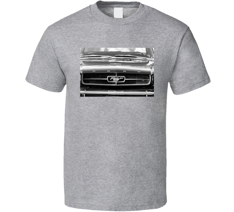 65 Mustang Grille T Shirt Ford Pony Horse Car Cars Father's Mother's  Day Gift