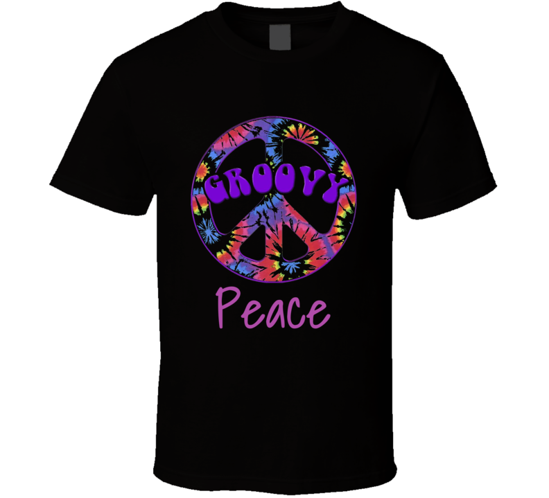 Peace Sign  T Shirt Groovy Gift 60s Retro