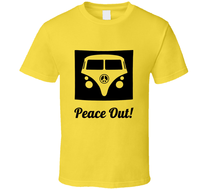 Peace Out Vw Volkswagen Bus T Shirt 60s Gift Retro