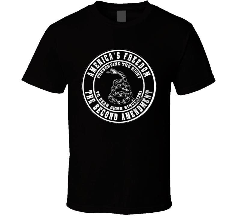 2nd Second Amendment America's Freedom T Shirt Snake Gift Political Gun Rights